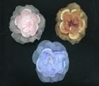 ER 455 Open silk/organza rose on pin