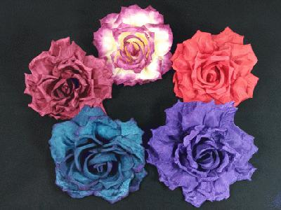ER551 Crinkle Edged Silk Rose