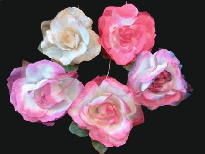 ER 326 Silk Rose/Leaves