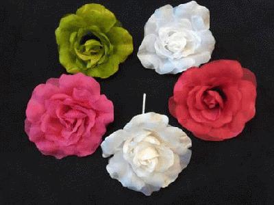 ER 341 Medium Silk/Organza Rose