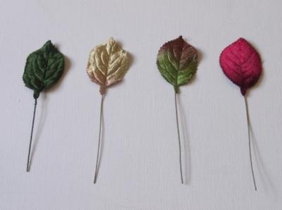 er363 velvet rose leaf