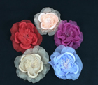 ER 455 Open Silk/Organza Rose on Pin