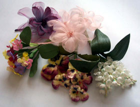 Handmade flowers and corsages