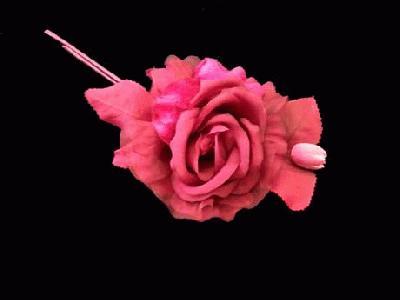 LB 42 Silk/Velvet Rose and Bud