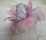 NH123 Wired petal/crystal band - colours mauve/lilac/pink