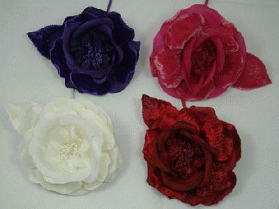 Er317 Silk Velvet Rose