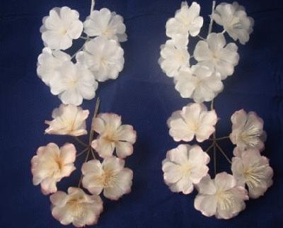 ER418 Satin/Organza Blossom