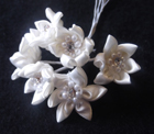 ER143 Satin Crystal Star Flower