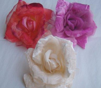 ER388 Large Silk/Velvet Rose