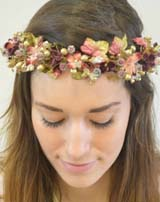 HD 311 Full Velvet Leaf & Blossom Circlet