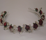 HD 183 Full Rosebud/Crystal & Pearl Band