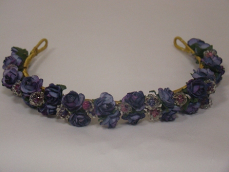 HD 4 Double Row Rosebuds & Crystal Band