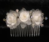 NH206 Crystal/Silk Organza Comb