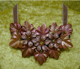 VN5 Hand painted Wax Flower/Leaf Necklace