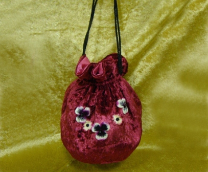 VN12 Velvet Pansy Evening Bag